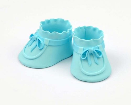 High Baby Booties Blue