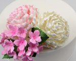 Herbaceous pink peony sugar flower