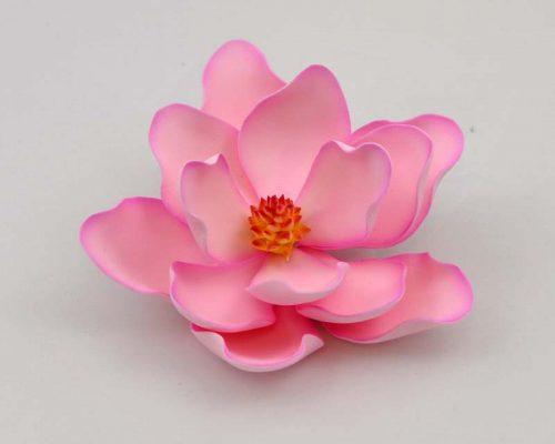 Medium pink magnolia sugar flower