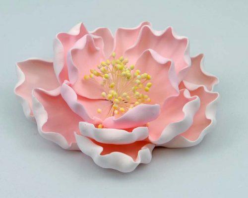 Large Peony Pink Paeonia sugar flower