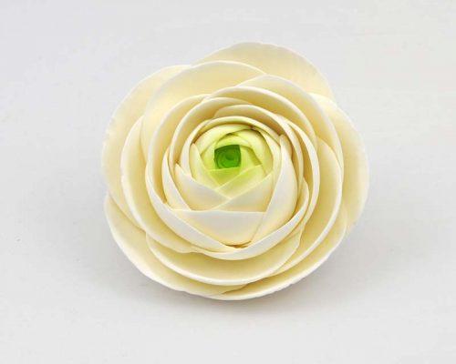 Ranunculus white green sugar flowers