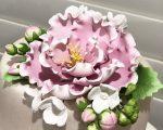 Peony Hydrangea spray sugar flowers 3