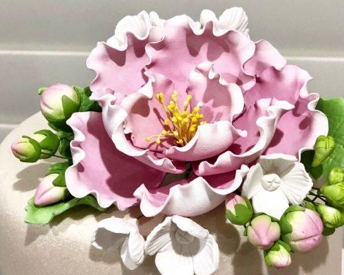 Peony Hydrangea spray sugar flowers 1